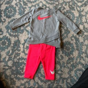 Nike Dri-fit tunic and leggings